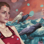 La pintura de Stana Katic, pintada por Alex Gross