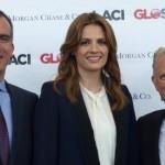 Stana Katic en la conferencia GLOSHO15 en LA